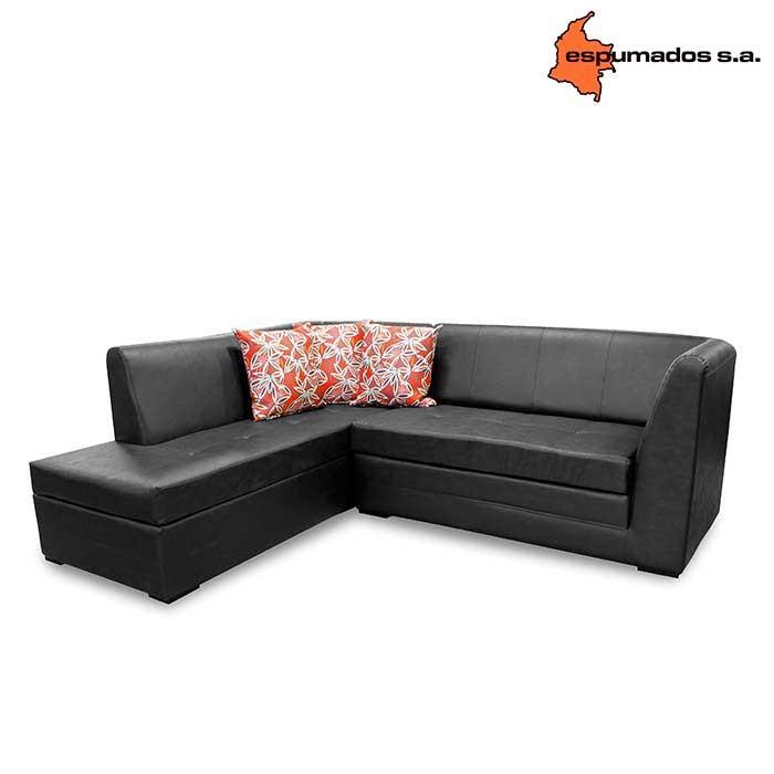 sof cama esquinero espumados marrakech jazz negro alkosto