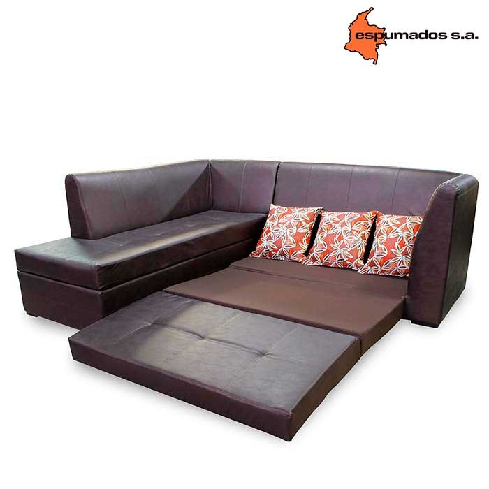 Sof cama esquinero espumados marrakech jazz chocolate for Sofa cama 1 cuerpo
