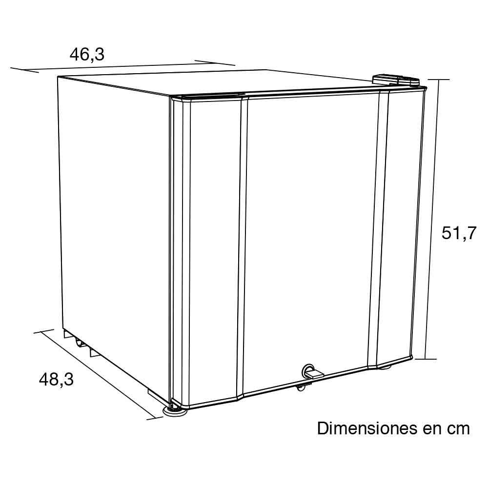 Minibar challenger 50 5lts cr 077 gris alkosto tienda online - Dimensiones de una nevera ...