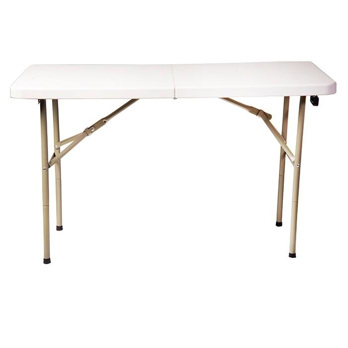 Mesa rectangular plegable para 6 personas alkosto tienda for Mesa plegable 8 personas