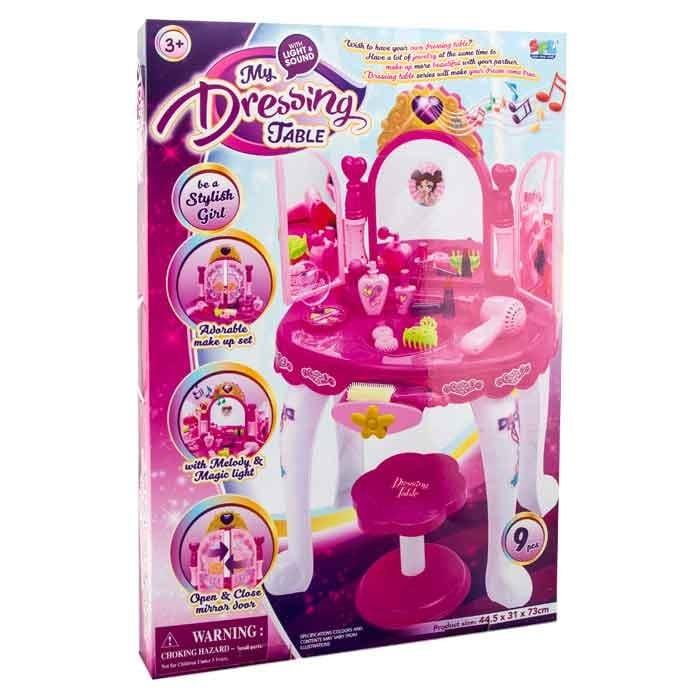 Tocador infantil para maquillaje con silla my dressing table alkosto tienda online - Tocador infantil ...