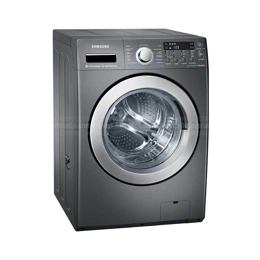 Lavadora secadora samsung 15kg wd15f5k5asg alkosto - Secadora encima lavadora ...