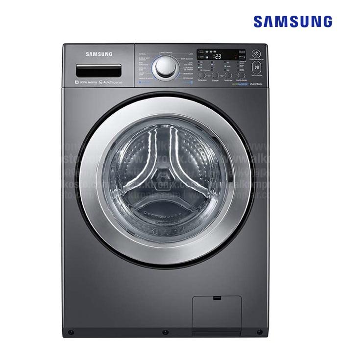 Lavadora secadora samsung 15kg wd15f5k5asg alkosto - Soporte secadora sobre lavadora ...