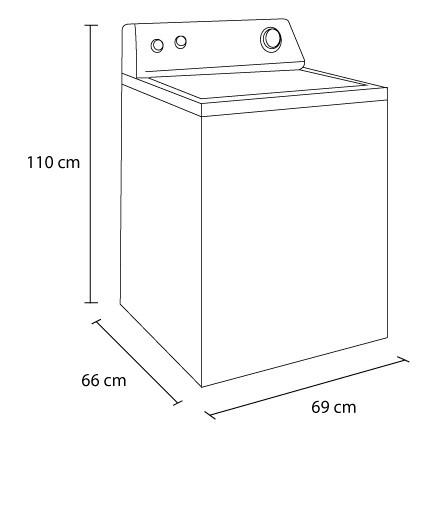 Lavadora whirlpool 18kg 7mwtw1812aw alkosto tienda online for Medidas de lavadoras