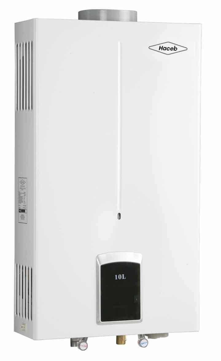 Calentador de paso haceb cpg 10l tiro natual gas natural - Calentador de agua de gas ...