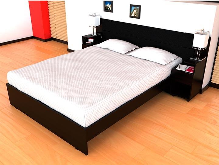 cama doble maderkit mesas de noche incluidas alkosto