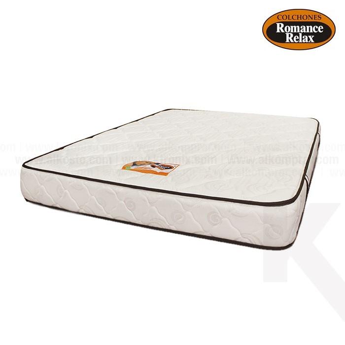 Colchón de espuma Carey sencillo 90x190X20 cms blanco con sesgos en ...