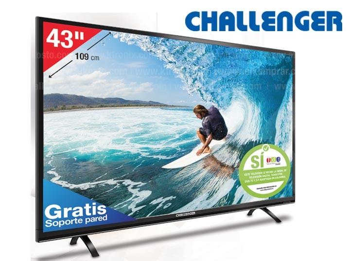 tv 43 109 cm led challenger 43d14hd alkosto tienda online. Black Bedroom Furniture Sets. Home Design Ideas