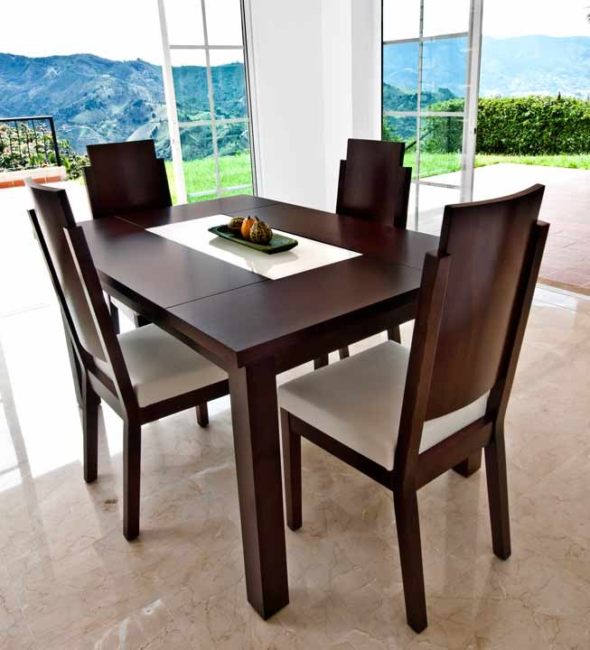 Mesa comedor 4 sillas khome volan alkosto tienda online for Sillas de tela comedor