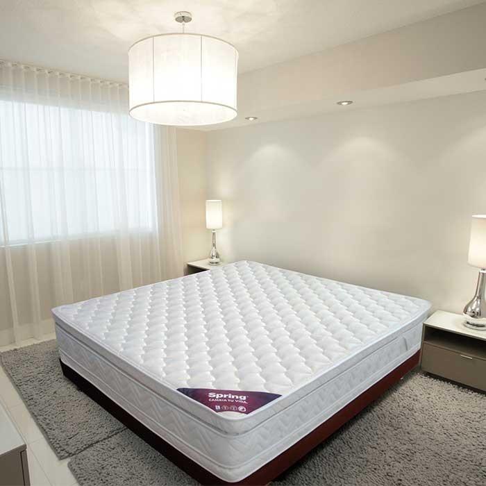 KOMBO SPRING: Colchón 140 x 190 Descanso Perfecto + Base Cama Salim ...