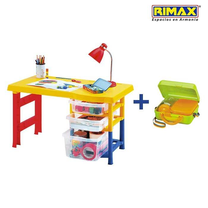 escritorio infantil rimax multicolor obsequio alkosto