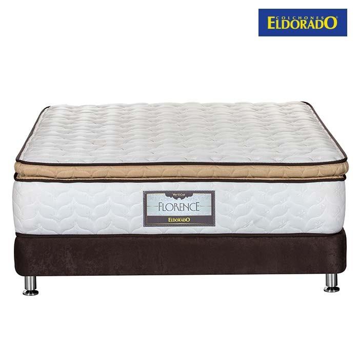 Kombo eldorado colch n doble florence 140x190 cms for Colchon cama doble medidas
