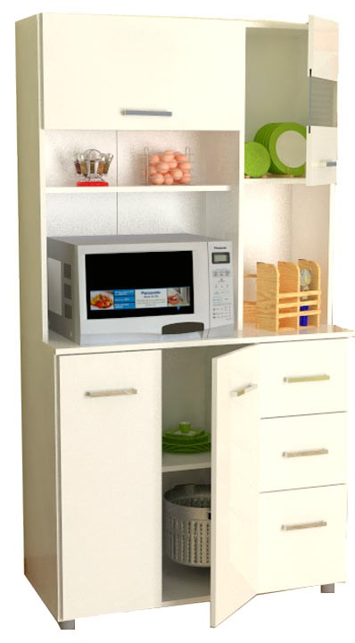 Gabinete cocina inval 4 puertas blanco alkosto tienda online for Gabinetes de cocina blancos