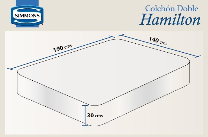 Colch n simmons hamilton unitop doble alkosto tienda online for Medidas de un colchon doble