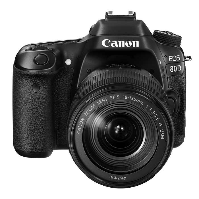 c mara canon profesional eos 80d negra lente 18 135 is