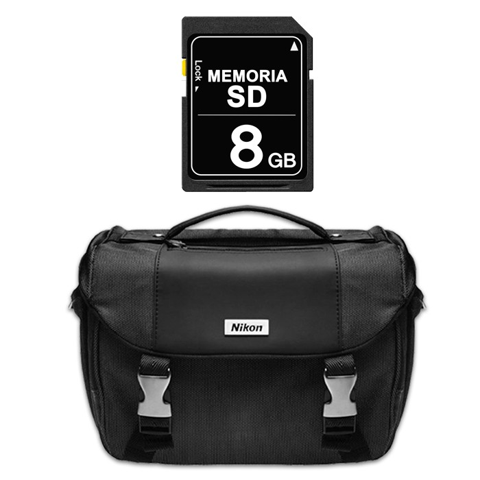 Cámara NIKON Profesional D3400 + Estuche + SD 16GB Negra Alkosto ... bb86260fc7ad
