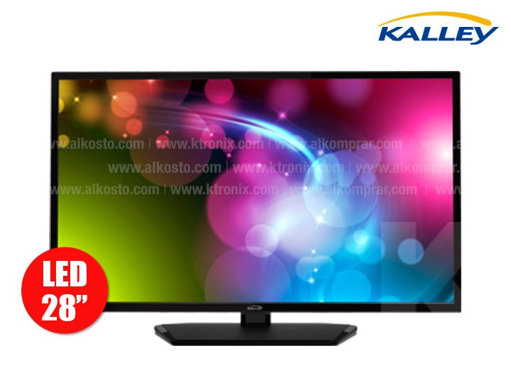 tv 28 70 cm led kalley k28 hd t2 alkosto tienda online. Black Bedroom Furniture Sets. Home Design Ideas