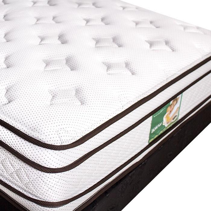 KOMBO: Colchón de resortes DORMILUNA Mercurio Top Doble + Base cama ...