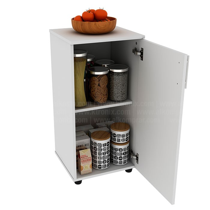 Mueble auxiliar de cocina practimac lavanda nevado for Mueble auxiliar cocina