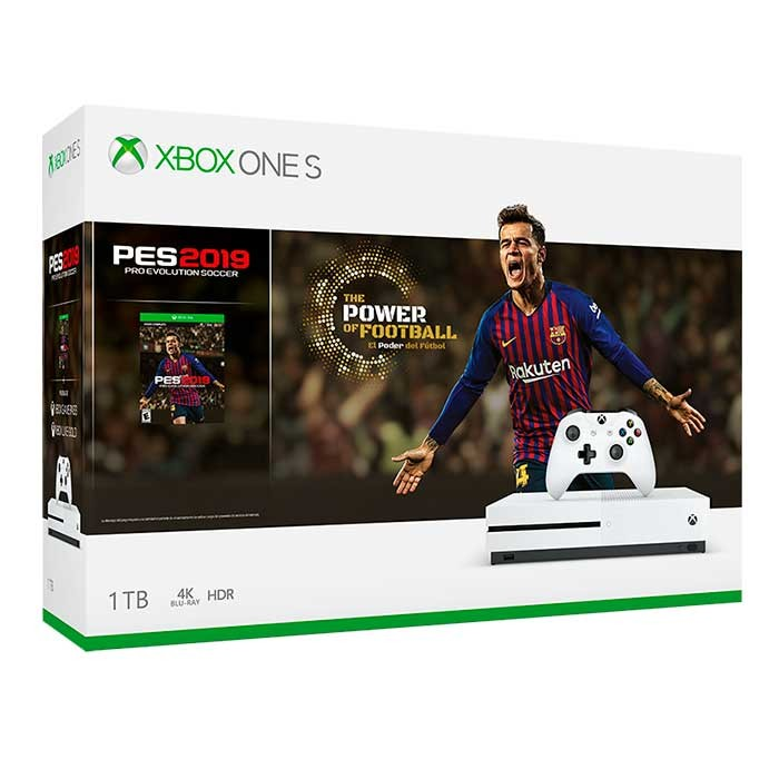 Consola Xbox One S 1tb Videojuego Pes 2019 1 Control 14 Dias