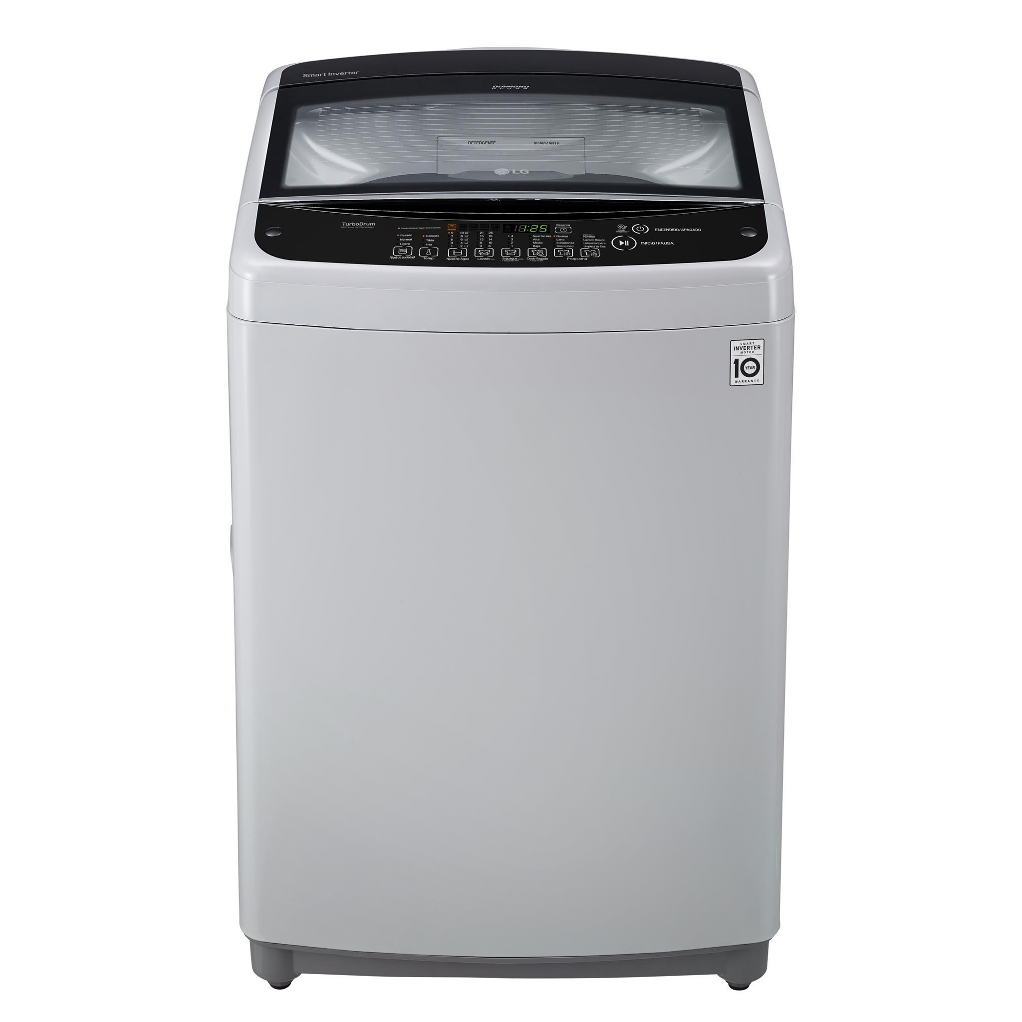 Lavadora LG Carga Superior 19 Kilogramos WT19DSB Gris