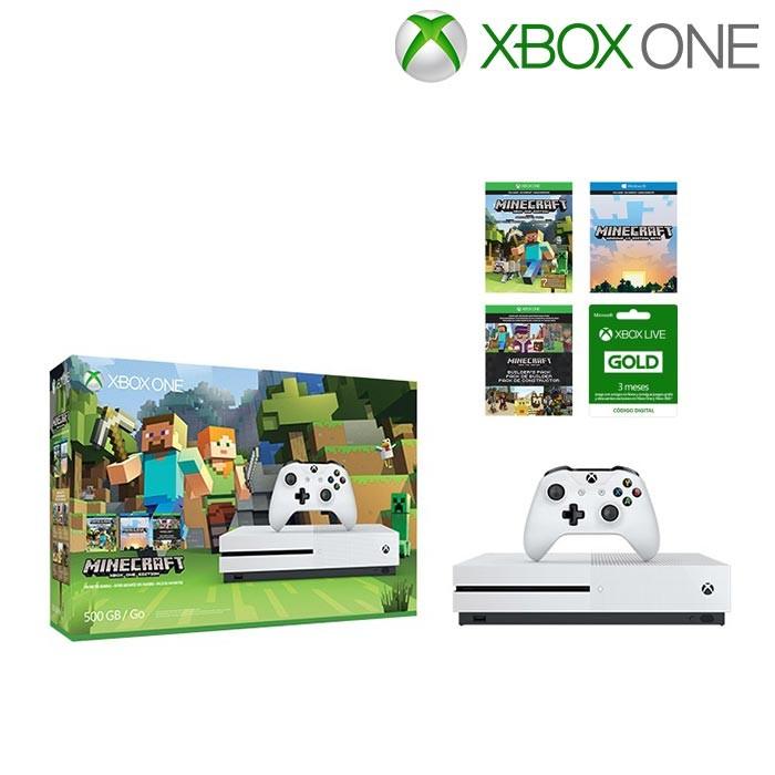 Xbox One S 500GB + Juegos Minecraft + Xbox Live 3 Meses Alkosto ...
