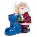 NAVIDAD Figura de Santa Claus Porta Palillos