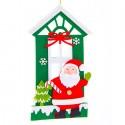 NAVIDAD Colgante plano de Casa y Santa Claus de 11 cm