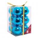 NAVIDAD Set x 12 Esferas Azules de 6 cm