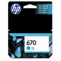 Cartucho de tinta HP 670 Cian Original CZ114AL