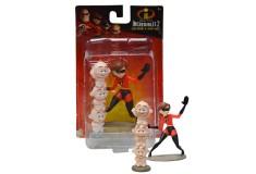DISNEY Pack x 2 Figuras de Elastic Girl & Jack Jack