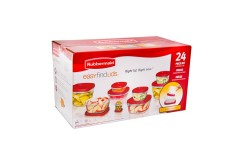 Juego x 24 Piezas RUBBERMAID de Recipientes Easy Find