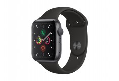 Apple Watch Series 5-44 MM Caja de Aluminio en Gris Espacial / Correa Deportiva Negra