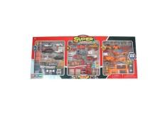 EXPRESS WHEELS Super Playset Track N' Town Edificios, Vehículos de Emergencia y Construcción