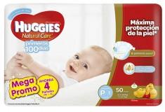 Pañal HUGGIES Natural Care Pequeño Pague 46 Lleve 50