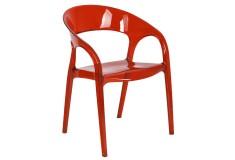 Silla de Diseño Auxiliar Roja Ref HLP-6003
