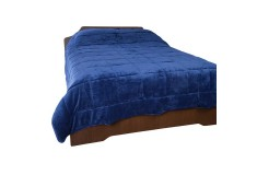 Cubrecama cobija K-LINE doble 100% Microfibra color azul