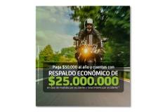 Seguro de Accidentes Personales Motociclista