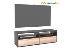 "Mesa TV 46"" Flotante MADERKIT Wengue/Espresso 01105-MP-WP-R"