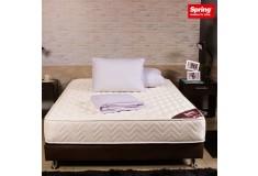 KOMBO SPRING: Colchón New one Doble  + Base cama doble + Mesa de noche + Protector + Almohada