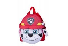 Mochila Marshal Paw patrol premium toys blanco y rojo