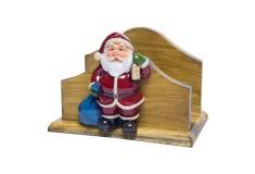 NAVIDAD Figura de Santa Claus Porta Servilletas