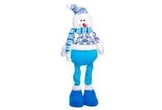 NAVIDAD Muñeco de Hombre Nieve de Pie Azul 17 cm