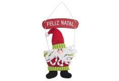 NAVIDAD Santa Claus con Letrero Feliz Navidad de 11cm