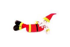 NAVIDAD Santa Claus Acostado de 16.5 cm