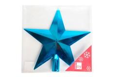 NAVIDAD Estrella para Tope de Arbol de 20 cm Azul