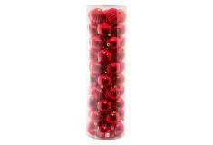 NAVIDAD Set x 50 Esferas Rojas de 8 cm