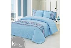 Conforter K-LINE Doble Bordado Azul Algodón 100%