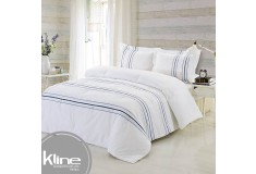 Conforter K-LINE Queen Bordado Blanco Algodón 100%