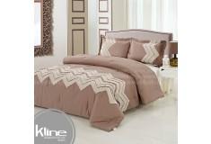 Conforter K-LINE Doble Bordado Kaki Lino Algodón 100%